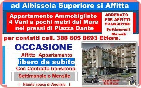 Appartamento in affitto ad Albissola Superiore (SV)